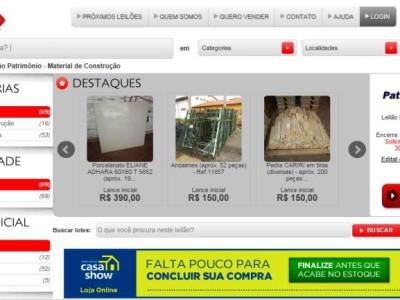 Sold disponibiliza Materiais de Construção em leilão online. Saiba mais