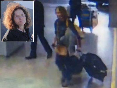 Imagens mostram médica capixaba andando no aeroporto de Guarulho