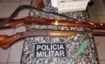 Polícia prende homem por ilegal de arma e ameaça