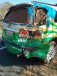 Ônibus da Empresa Líder bata na viatura da  Policia Militar de Valença do Piauí