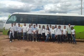 IFPI Do Campus Valença, realizaram visita técnica ao viveiro de produção de mudas de eucaliptos